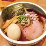 niboshichuukasobasuzuran - 味玉炭火焼鯵煮干そば