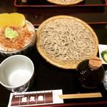 手打ちそば 悠久庵 - もりそば + わさびご飯 ¥650+200-