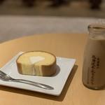 北海道牛乳カステラ - カステラロール+ドリンクセット