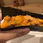 115828925 - 雲丹とささみの手巻き寿司