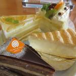 115829708 - オレンジムース、ショートケーキ、ショコラバナーヌ、クリームチーズ