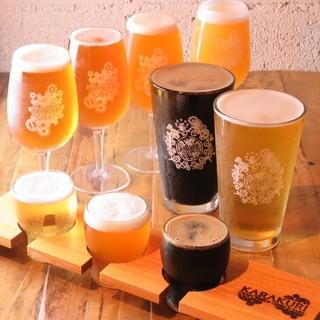 厳選された国内外の【クラフトビール】を日替わりで!!