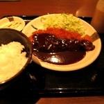 天ぷら食堂 天八 - 味噌カツ定食 \880