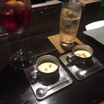 BAR & DINING JAYCO - * お通し (さつまいもの冷製スープ) 495円 ×2 =990円