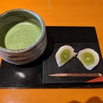 Raunjikinkei - 季節の甘味セット(1100円+税)