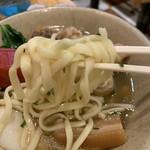 天龍 - 天龍そばの麺アップ