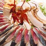 根もと - 料理写真:秋刀魚と松茸のしゃぶしゃぶ