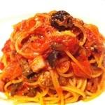 11586919 - モルタデッラとマッシュルーム、ブラックオリーブのトマトソース