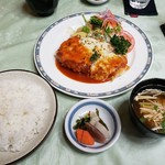 三澤亭 - 料理写真:ポークカツイタリアン2019.09.08