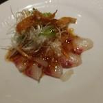 chuugokuryourigouka - 鯛のカルパッチョ豪華スタイル