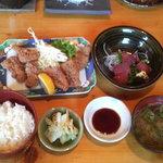 きなせ亭 - 鯨竜田揚げ定食