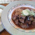 レストラン リバーサイド - 3月までの限定メニュー。牛の煮込み892円