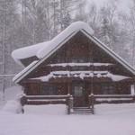 レストラン リバーサイド - 雪深いです!