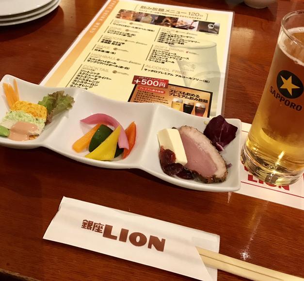 銀座ライオン 新宿センタービル店の料理の写真