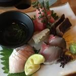 盃屋かづち - 美味しいお刺身たち!