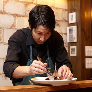 佐倉寛之氏(サクラヒロユキ)の手掛けるオリジナル料理をどうぞ