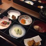 Sousakushuansaizou - 前菜はお弁当スタイル