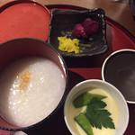 Sousakushuansaizou - おかゆは味があって美味しい!茶碗蒸しホッとする