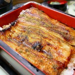 115888867 - 亀重   2500円(お新香&お吸い物つき) 山椒はセルフで。