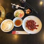 Yakinikushinra - ハラミ定食 大盛 ¥1350