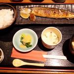 うおつね - 本日の焼き魚定食は新さんまの塩焼き