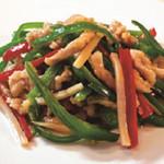 八重洲 福龍 - 細切り豚肉とピーマンの炒め