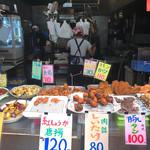 惣菜なかふじ - まさに茶色ミュージアム。家近なら肉詰めしいたけ買ってたわ