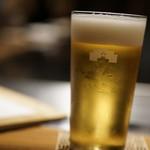 Kuzushiteppanabagura - 生ビール(スーパードライ)