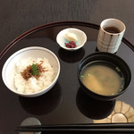 弁慶 - ちりめんじゃこご飯 香の物 お味噌汁