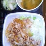 吉野家 - かち豚生姜丼