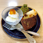 カフェあぐりす - 料理写真:パウンドケーキセットにはミニシャーベット付き