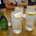 115914345 - レモンハイ & 日本酒で乾杯!