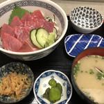 福魚食堂 - 生マグロ丼1,200円