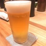 焼き鳥 とりら - 今回は生ビールは必須。       いつもハイボールでしたが、生ビールが美味いとのことで次回は飲むと決めていたので、一杯目は生ビールです。