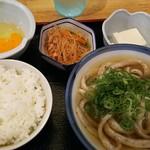 うどん 讃く - 朝定食  390円