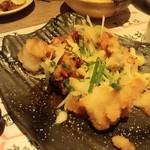 焼き鳥×燻製×日本酒 kmuri-ya - 唐揚げおろし(半分くらい食べちゃってます)