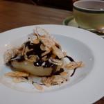 六甲山のオーベルジュnaare - 2019年秋洋ナシのコンポート・チョコレートソース