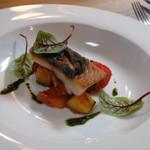 六甲山のオーベルジュnaare - 2019年夏鮮魚のポワレ・ラタトゥイユ