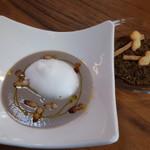 六甲山のオーベルジュnaare - 2019年秋マッシュルームのポタージュ・自家製ベーコン入り