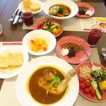 Cafe Contrail - 2人のグルメクルージングランチ 1600円(税込)【2019年9月】