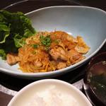かしき屋福茂千 - 三味豚のプルコギ昼膳 1,100円