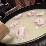 新橋シャモロック酒場 - 純シャモロック スープのつくね鍋