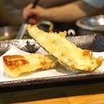 天ぷらとワイン 小島 - ちくわ と 茄子