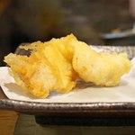 天ぷらとワイン 小島 - かしわ と 白身魚