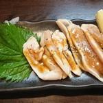 浪花ひとくち餃子 餃々 - 鶏ささみのタタキ 柚子胡椒ソース
