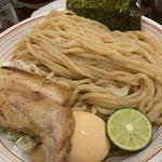 山麺 - 香味焙煎麺のつけ麺(大)味玉付け