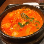 KOREAN DINING 長寿韓酒房 - 大好きなモツスンドゥブ。