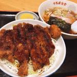 牛乳屋食堂 - Aセット(ソースカツ丼&半ラーメン)