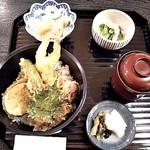 季節のおりょうり 播匠 - 天丼膳¥980(税別)