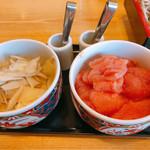 えびのや - 食べ放題 ゴボウと生姜の酢漬け&辛子明太子
